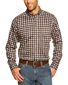 Ariat Flame Resistant Black Plaid Work Shirt