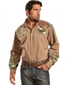 Gibson Trading Co. Men's Khaki Camo Shooter Shirt