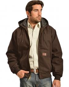 Gibson Trading Co. Men's Hooded Chocolate Brown Jacket