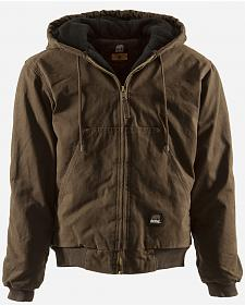 Berne Original Washed Hooded Jacket - Quilt Lined - XLT and 2XT