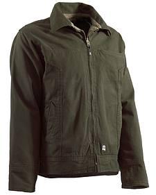 Berne Hickory Washed Aviator Jacket