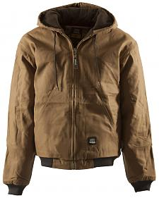 Berne Brown Duck Original Hooded Jacket - Big and Tall