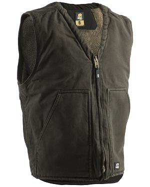 Berne Washed V-Neck Vest - 3XL and 4XL