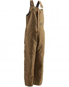 Berne Brown Duck Deluxe Insulated Bib Overalls - Tall