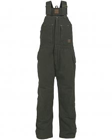 Berne Bark Original Washed Insulated Bib Overalls - 1XTall