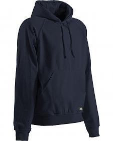 Berne Black Original Fleece Hooded Pullover - Tall Sizes