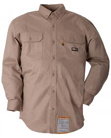 Berne Flame Resistant Button Down Work Shirt - 3XL and 4XL