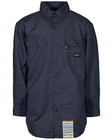 Berne Flame Resistant Button Down Work Shirt - 3XT and 4XT