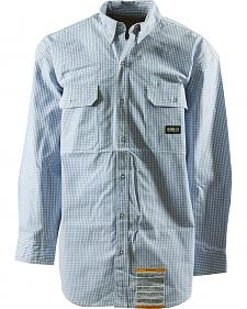 Berne Flame Resistant Plaid Button Down Workshirt - 5XL and 6XL