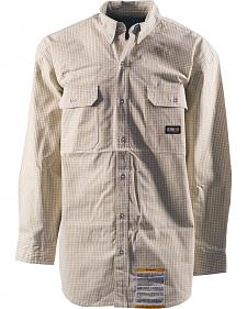 Berne Flame Resistant Plaid Button Down Workshirt - Tall Sizes