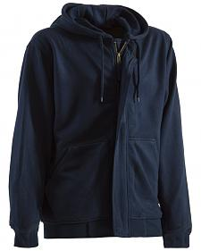 Berne Navy Flame Resistant Hooded Sweatshirt - 3XT and 4XT