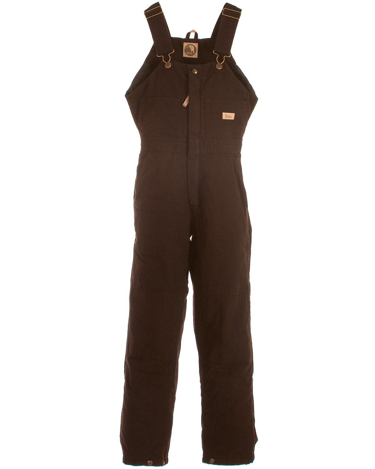Berne Women's Washed Insulated Bib Overalls Short ...