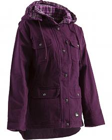 Berne Women's Quilted Flannel-Lined Washed Barn Coat - 3XL and 4XL