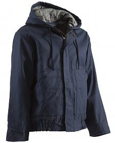 Berne Brown Duck Flame Resistant Hooded Jacket