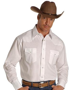 Wrangler Solid Cowboy Shirt