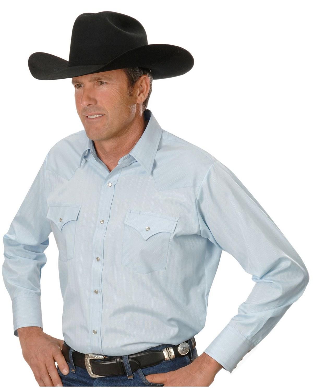 Ely cattleman men 39 s dobby solid western dress shirt for Men s dobby shirt