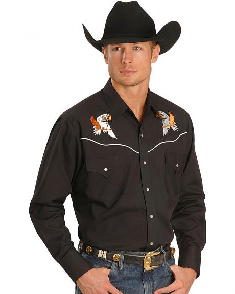 Ely Eagle Embroidered Western Shirt