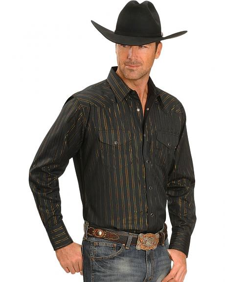 Exclusive Gibson Trading Company Lurex Striped Cowboy Shirt
