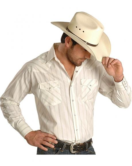 Ely Cattleman Striped Western Shirt