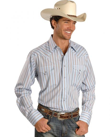 Panhandle Slim Satin Stripe Dress Shirt