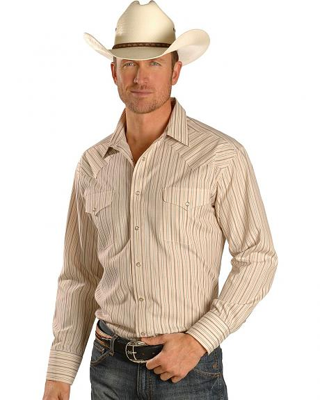 Panhandle Slim Men's Satin Dobby Stripe Western Shirt