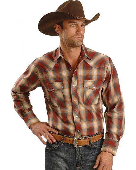 Roper Men's Lurex Long Sleeve Western Shirt