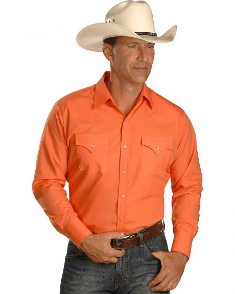 Ely Peach Classic Long Sleeve Western Shirt - Reg