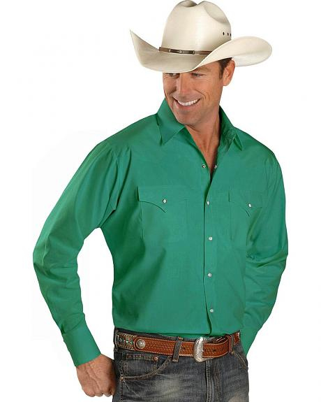 Ely Emerald Long Sleeve Western Shirt