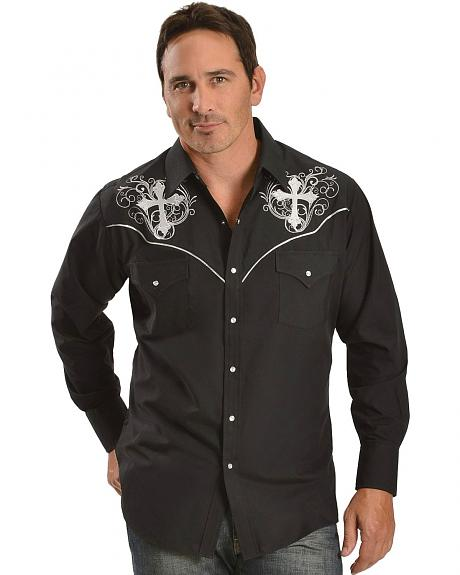 Ely Cross Embroidered Western Shirt