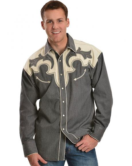 Exclusive Gibson Trading Co. Retro Chambray Western Shirt