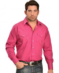 Ely Men's Classic Western Pink Shirt