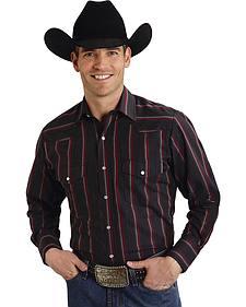 Roper Men's Black Striped Western Shirt