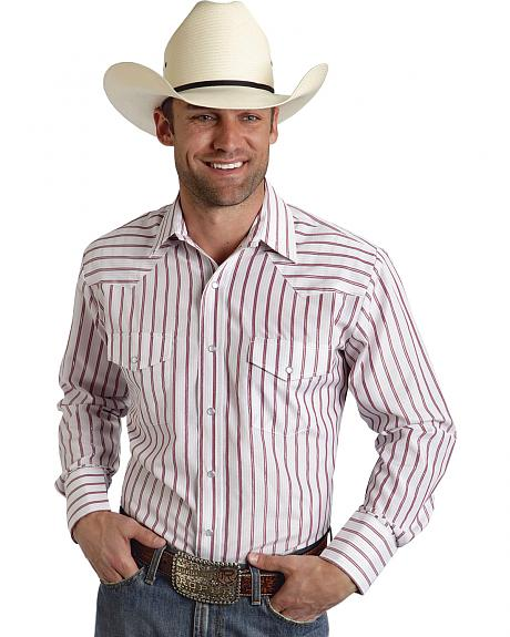 Roper Men's Red Striped Western Shirt