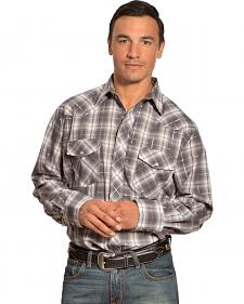 Gibson Trading Co. Grey Plaid Lurex Shirt