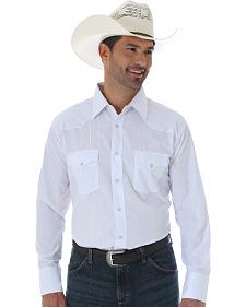 Wrangler Silver Edition Embroidered White Western Shirt