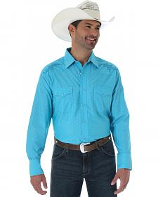 Wrangler Silver Edition Embroidered Dobby Western Shirt
