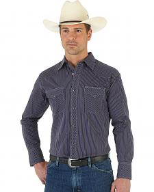 Wrangler Silver Edition Black Dobby Shirt
