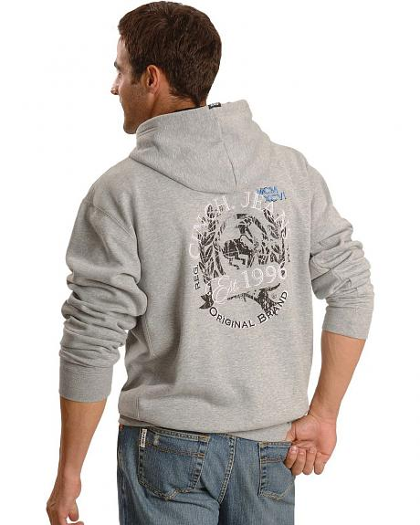 Cinch � Logo Grey Fleece Hoodie