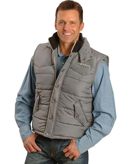 Petrol Quilted River Vest