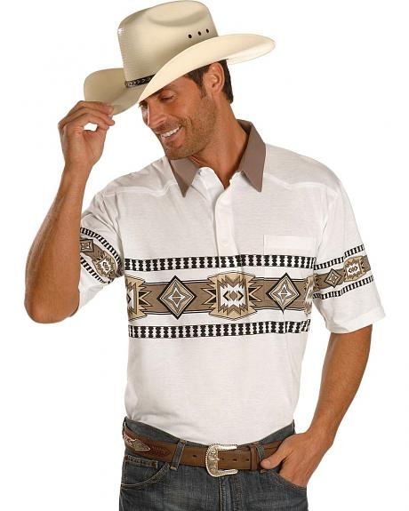 Aztec Border Polo Shirt