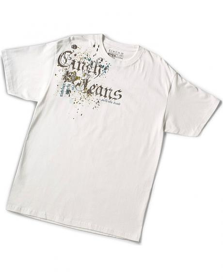 Cinch ® Distressed Screen Print Logo T-Shirt