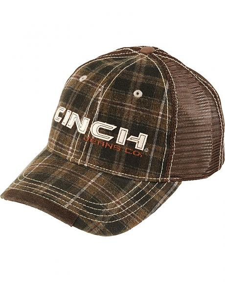 Cinch Multi-Plaid Logo Cap