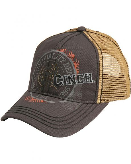 Cinch � Embroidered Logo & Print Graphic Mesh Back Cap