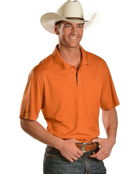 Ariat Foxtail Orange Tek Polo Shirt