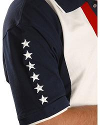 Gibson S/S Knit Vertical Pieced Patriotic at Sheplers