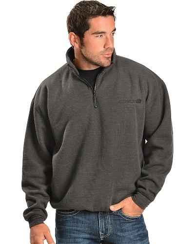 Cinch  Waffle Back Fleece Pullover Western & Country MWK1019001