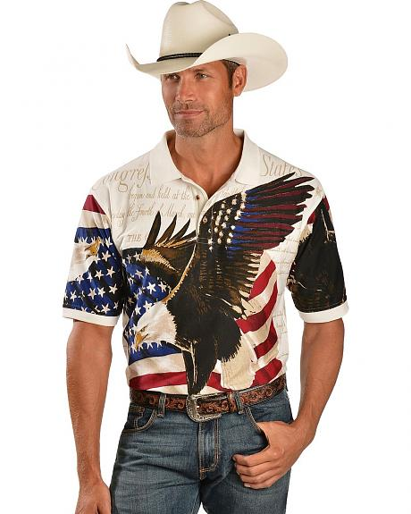 Patriotic Eagle Polo Shirt