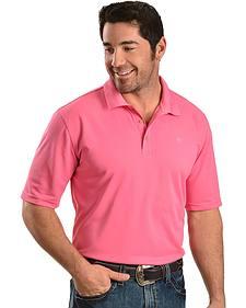 Ariat Tek Pink Polo Short Sleeve Shirt