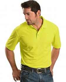 Ariat Tek Lime Green Polo Short Sleeve Shirt