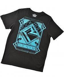 Rock & Roll Cowboy Teal Graphic T-Shirt